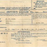 George Graham's Driver's License