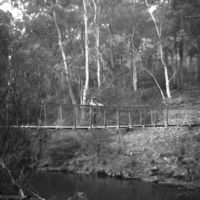 Cable Suspension Bridge across Yarrangobilly River, Wallace's Creek