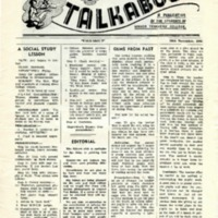 Talkabout, 29 November 1956