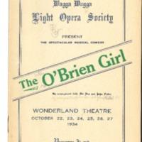 Wagga Wagga Light Opera Society Programmes