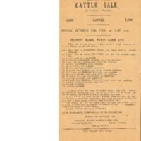 Meurant, Blake, Watts, Clark Ltd: Cattle Sale Listing