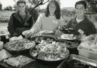 Nick Kleine, Kristen Habermann and Daniel De Graaf at a wine orientation seminar in Wagga