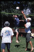 Albury students relaxing with a game of social volleyball