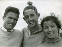 1956 - Champion swimmers - Unknown, Leo Tobin, Cherie Hingu.jpg